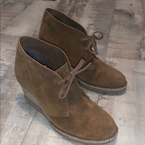 J Crew Macalister Wedge Lace Up Booties Size 7